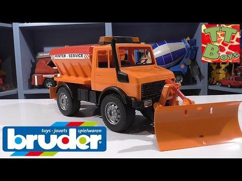 ✔ BRUDER. Спецтехника для детей. Снегоуборочная машина. Распаковка от Игорька. Видео для детей ✔