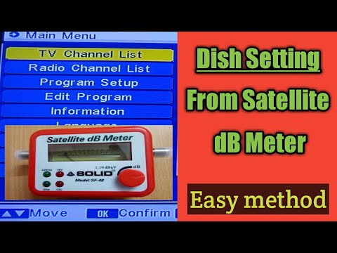dish setting from satellite dB meter