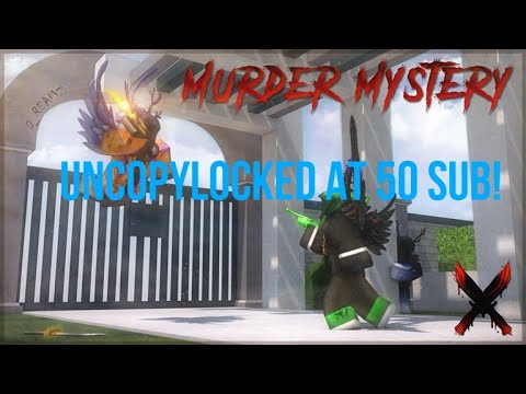 Murder Mystery X Uncopylocked At 50 Subs Youtube