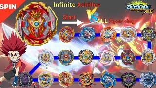 【Infinite Achilles VS ALL Sparking】 Beyblade Burst Sparking …