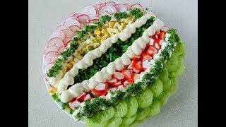 Салат з редиски та крабових паличок / Салат с редиской и крабовыми палочками