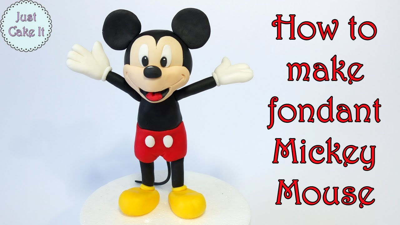 How To Make Mickey Mouse Cake With Fondant