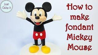 How to make fondant Mickey Mouse / Jak zrobić myszkę Miki z masy cukrowej