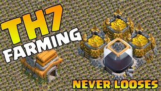 Clash Of Clans - TH7 BEST Town Hall 7 FARMING BASE CoC Defense Base ANTI DRAGONS