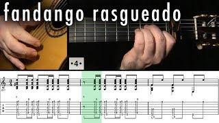 Flamenco Guitar 102 - 25 Fandango Rasgueado