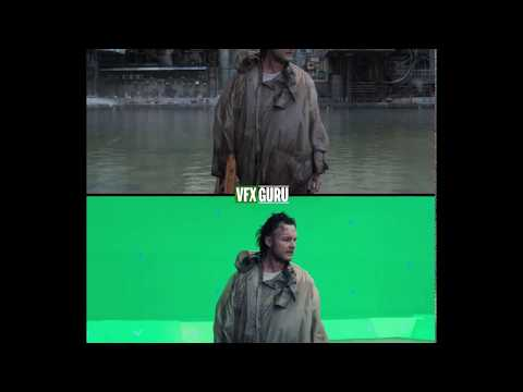 Ghost in the Shell (2017) - Invisible Water Fight Scene - Before/After VFX