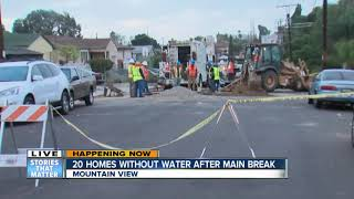 Mountain View homes without water after main break