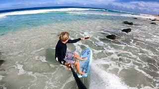 SURFING THROUGH ROCKS AT 30 MPH POV