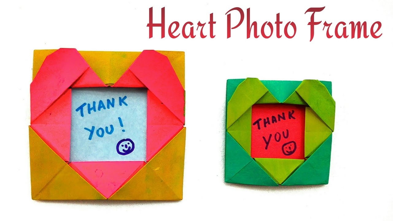 Heart Photo Picture Frame For Valentines Day Diy Origami