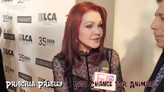 "Priscilla Presley at the ""LAST CHANCE for ANIMALS""  red carpet"