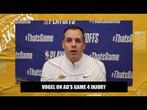 Frank Vogel explains Anthony Davis' injury situation after Lakers-Suns Game 4 | 2021 NBA Playoffs