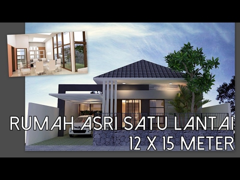Rumah asri satu lantai 12 x 15 meter  YouTube