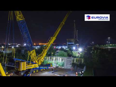 Nottingham Enterprise Zone - cycle bridge installation