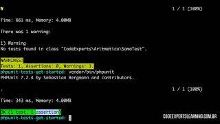 Primeiros Passos com Testes & TDD no PHP com PHPunit