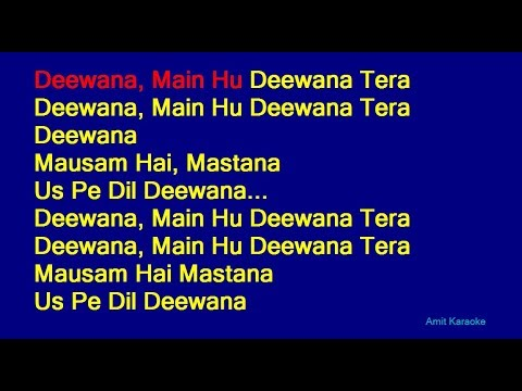 Deewana Main Hu Deewana Tera - Sonu Nigam Hindi Full Karaoke with Lyrics