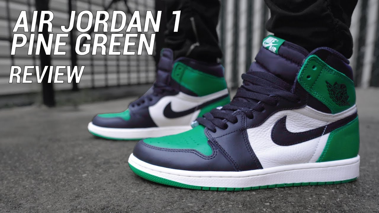 fc3188965a7eaa Air Jordan 1 Pine Green Review   On Feet - YouTube