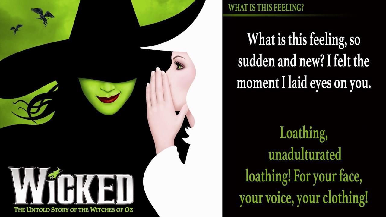 what is this feeling wicked karaoke