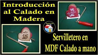 Calado con arco manual de servilletero en MDF