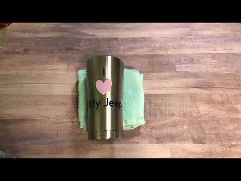 How to iron on a metal tumbler
