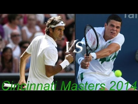 Roger Federer vs Milos Raonic Cincinnati Masters 2014 Semi-Final HD