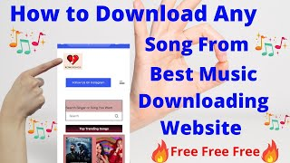 How To Download Any Mp3 Song Free From The Best Music Downloading Website | iphone | Android