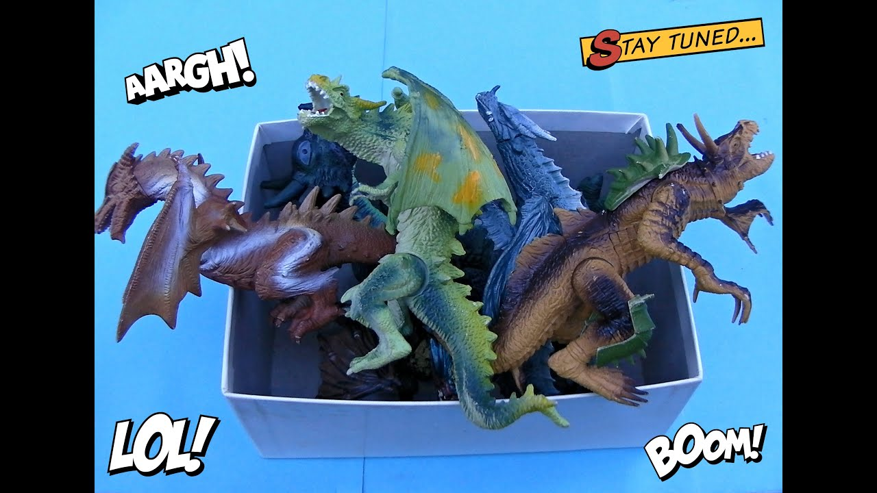 Dragon Box Toys Video For Kids Dragons Toy Part 1