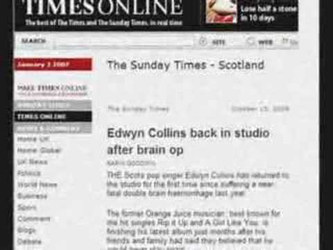 The Candy Twins Edwyn Collins is Back (tribute song)