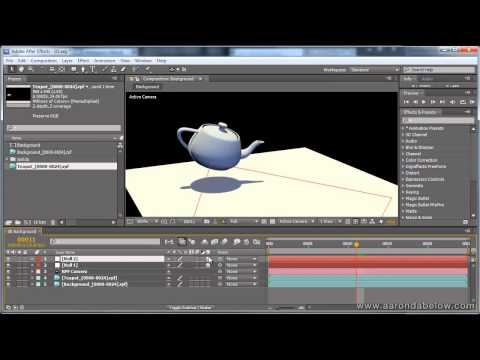 After Effects transforms exporter for 3ds Max script and demo