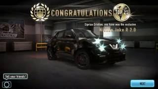 CSR Racing Nissan Juke R 2.0 SEASON 69 RESULTS