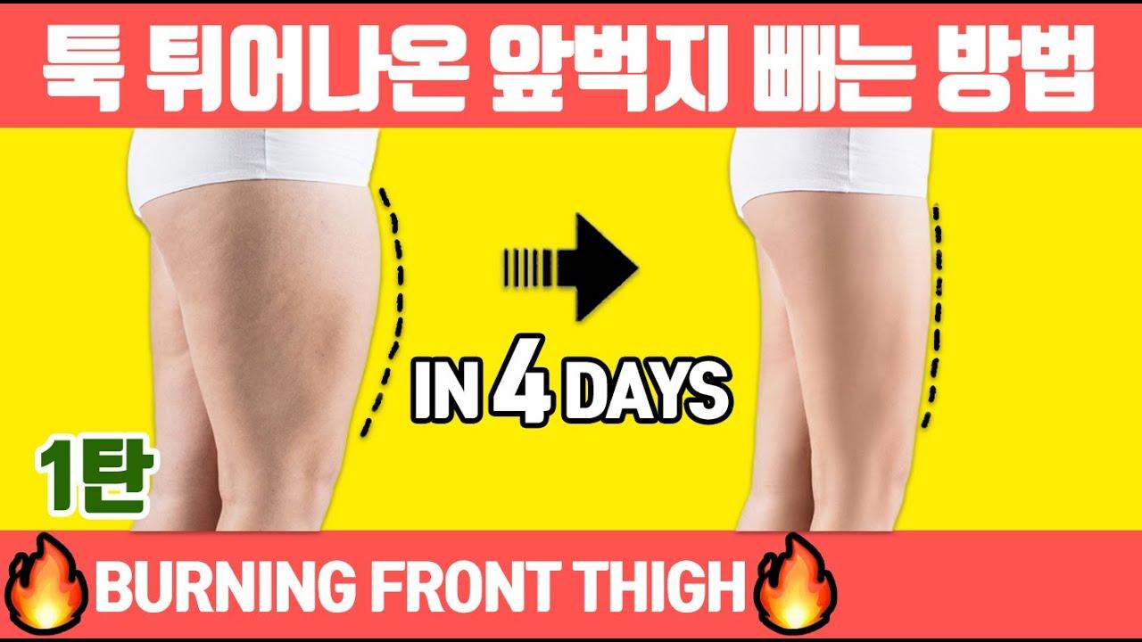 🔥툭 튀어나온 앞벅지🔥빨리 빼려면 1달만 이 루틴하세요.(앞벅지없애기/앞벅지 없애는 운동/허벅지살)