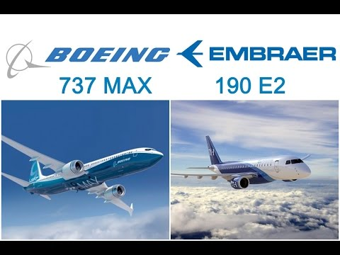 Video Comparison Between E190 E-2 VS 737 MAX - BOEING VS EMBRAER