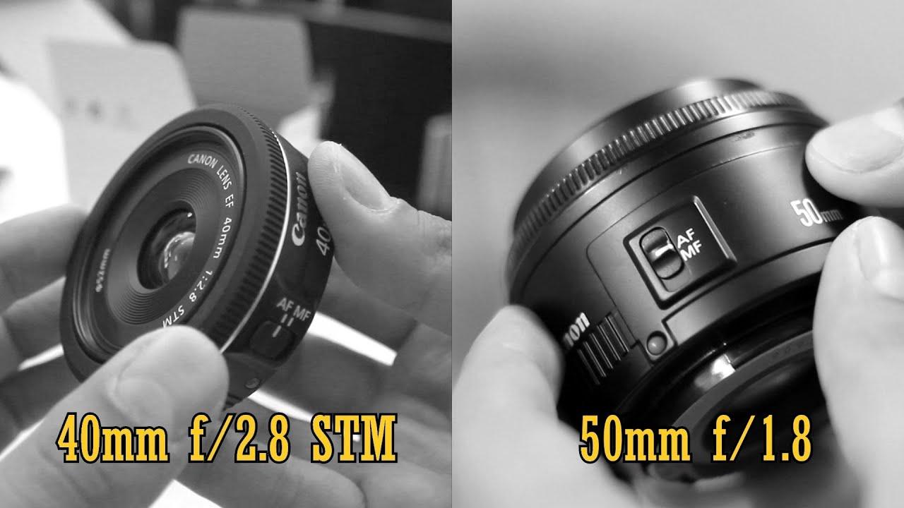 Canon 40mm STM 'pancake' vs 50mm f/1.8: Value Lens Comparison ...
