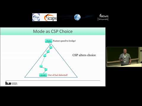 """ICAPS 2018: Mikael Nilsson on """"Planning with Temporal Uncertainty, Resources and Non-Linear ..."""""""