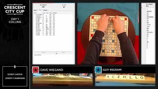 NOLA 2018 SCRABBLE CSW Round 1 Dave Wiegand vs Guy Ingram