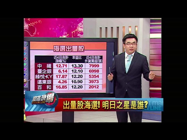 股市現場*鄭明娟20180823-7【明日之星→出量股海選(正隆.金融股.中纖.高技)】(呂漢威)