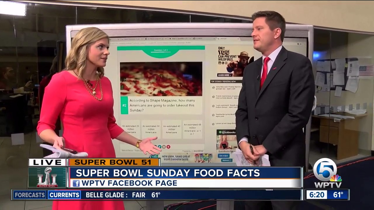 Super Bowl Quiz: How much food, beer is consumed on Super Bowl Sunday?