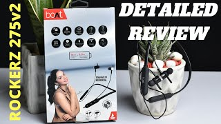 Boat Rockerz 275v2 Wireless Earphone Unboxing & Detailed Review ! Rockerz 275 v2 Review Pros & Cons
