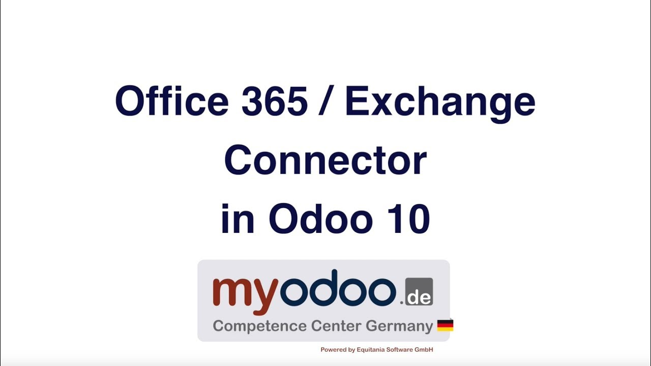 Office 365 / Exchange Connector Odoo 10