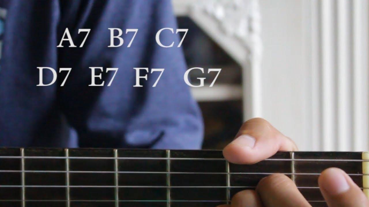 Cara Cepat Belajar Chord Gitar A7 B7 C7 D7 E7 F7 G7 Youtube
