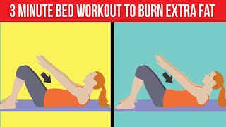 3 Minute Fat Burning Bed Workout To Lose Weight & Tone Up The Thighs | Bed Exercises | HealthPedia