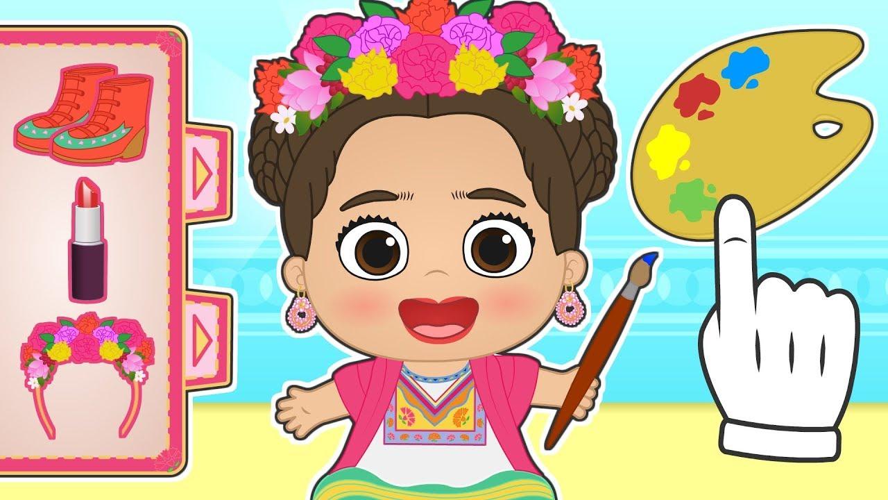 Download BEBE LILY se transforma en Frida Kahlo 🌺 Dibujos animados educativos en español