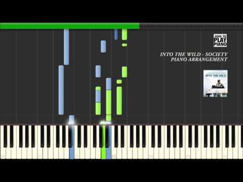 INTO THE WILD - SOCIETY (EDDIE VEDDER) - SYNTHESIA - PIANO ARRANGEMENT + SHEET MUSIC