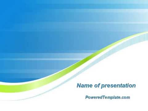 Green Wave Dissecans Blue White Image Diagonal Powerpoint Template By Poweredtemplate Com Youtube