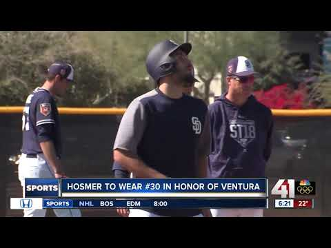 Hosmer to wear #30 to honor Ventura