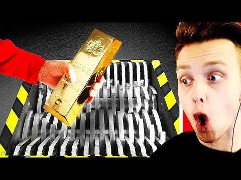 Видео: ЭКСПЕРИМЕНТ: Который Вам НИГДЕ Не ПОКАЖУТ! - ИЗМЕЛЬЧИТЕЛЬ vs. ЗОЛОТО