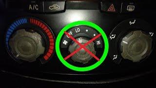Не переключаются скорости обдува салона автомобиля – возможные причины