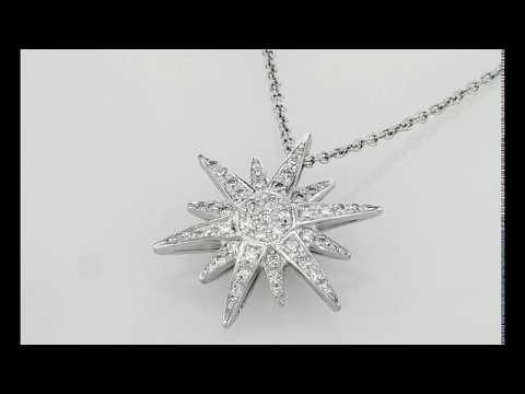 Starburst natural diamonds necklace, 0.36 carat TW G SI1