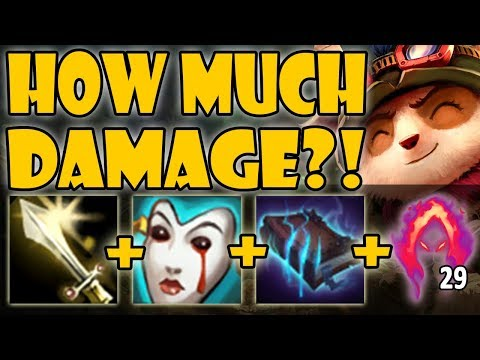 Teemo vs Olaf - Brave'mo! The HARDEST Lane For Teemo! INSANE DAMAGE! SEASON 9 Ranked Gameplay