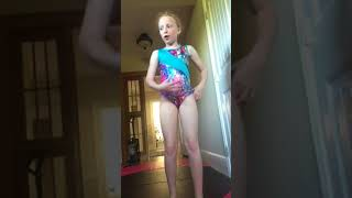 I got on to the competition team at gymnastics!!!