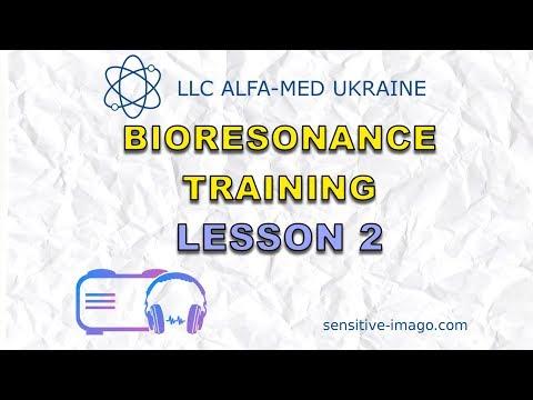 Sensitiv Imago bio resonance diagnosis and therapy machine. Training lesson 2